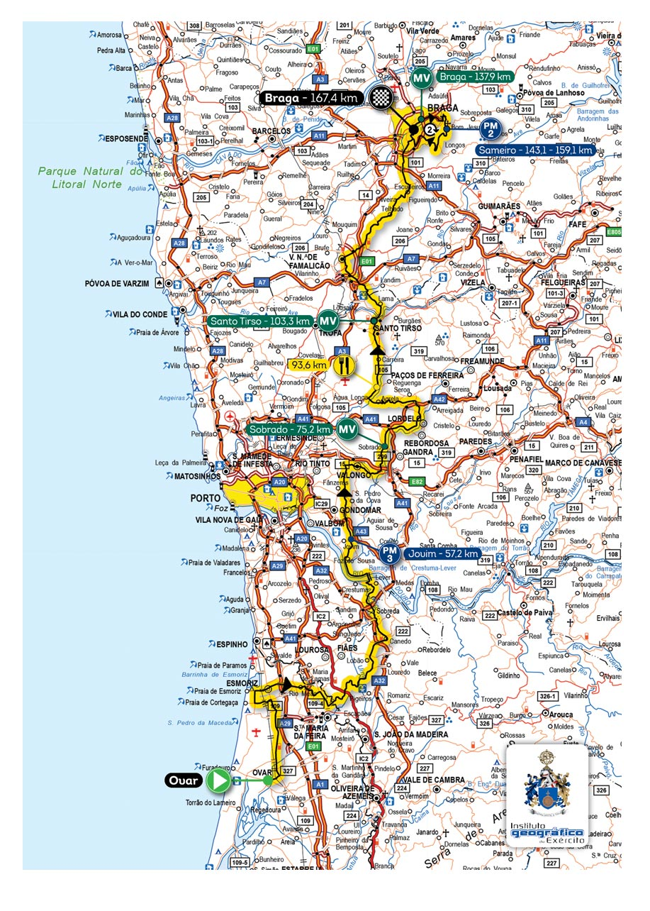 mapa da volta a portugal 78ª Volta a Portugal Santander Totta mapa da volta a portugal