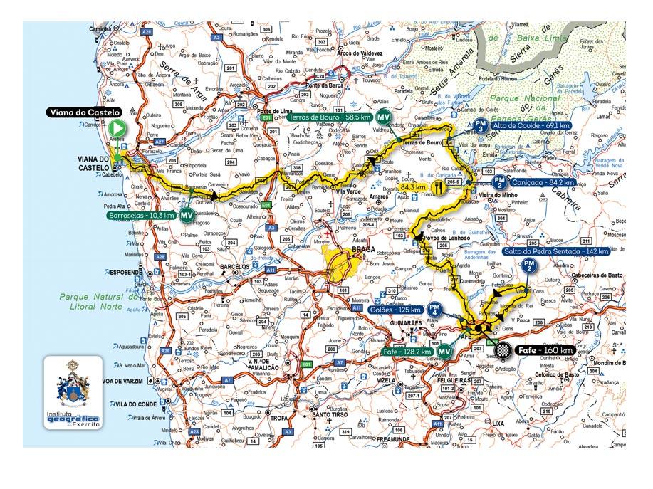 mapa volta a portugal 78ª Volta a Portugal Santander Totta mapa volta a portugal