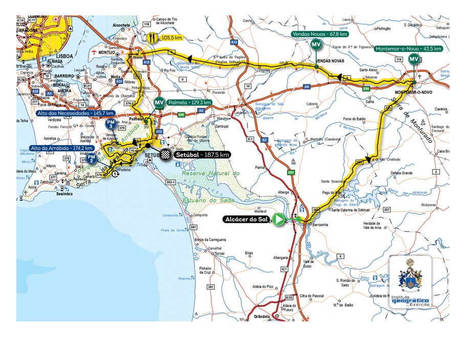 mapa de portugal em km 78ª Volta a Portugal Santander Totta mapa de portugal em km